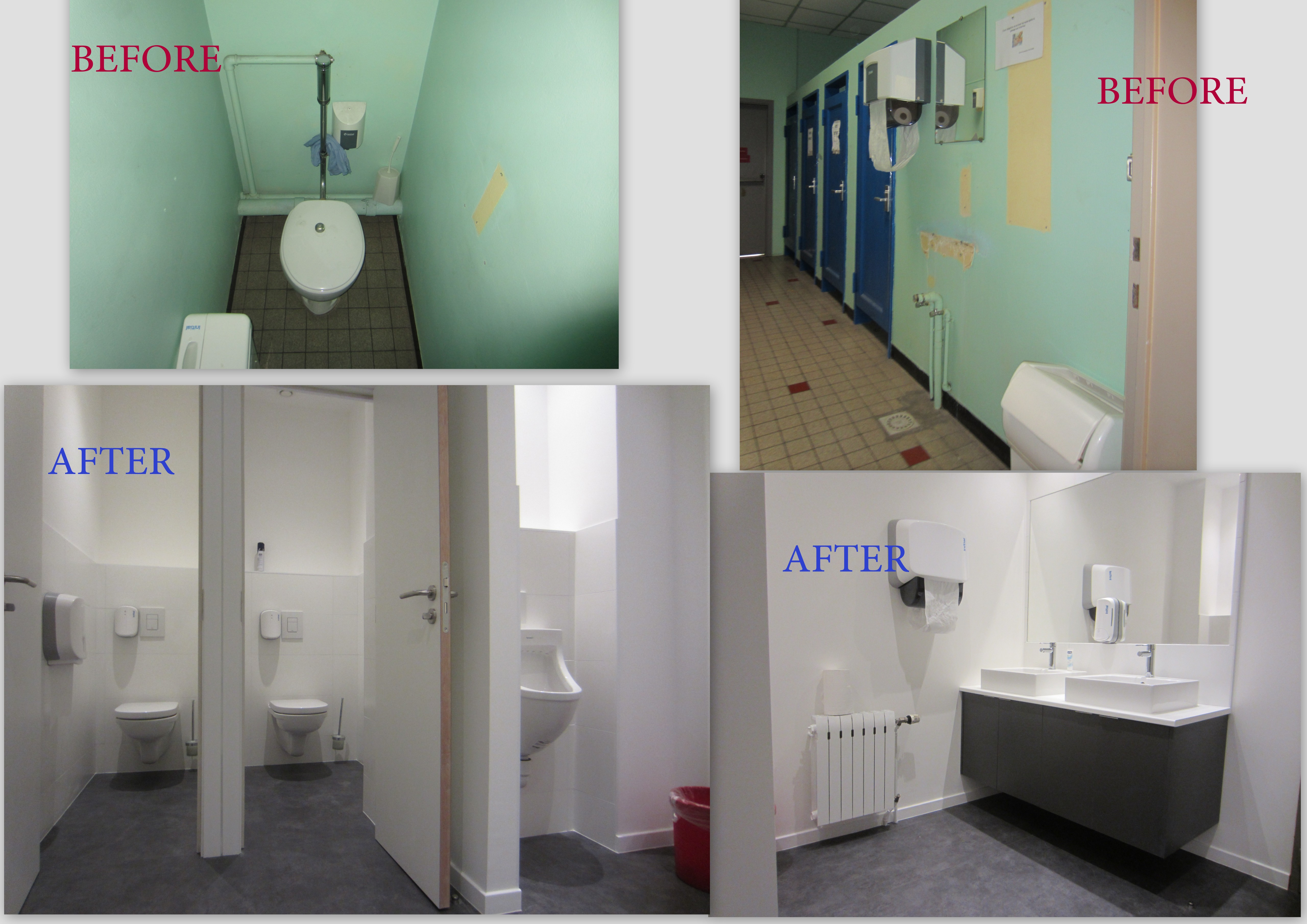 Modernization of sanitary spaces