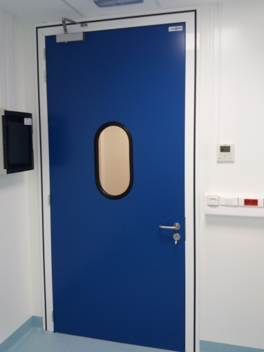 Large white room door