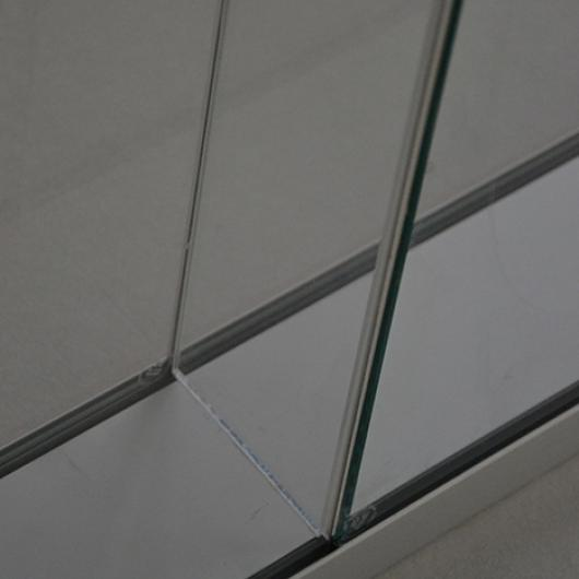Double glazed edge to edge