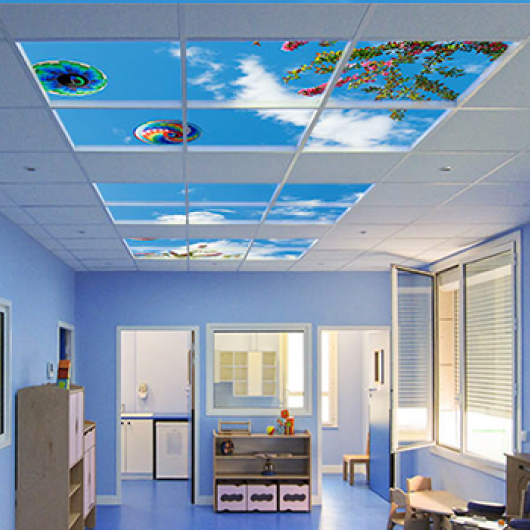 False ceiling tiles led sky appearance