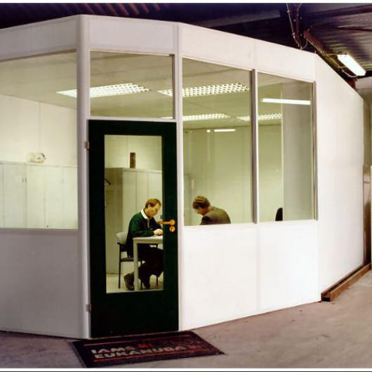 Semi glazed office  in a shed