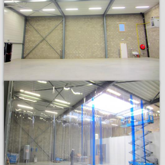 Installation in place of partition walls