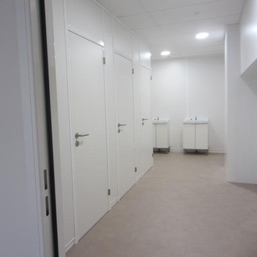 Renovation of sanitary facilities