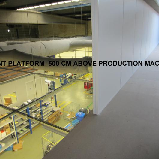 Platform over a production area